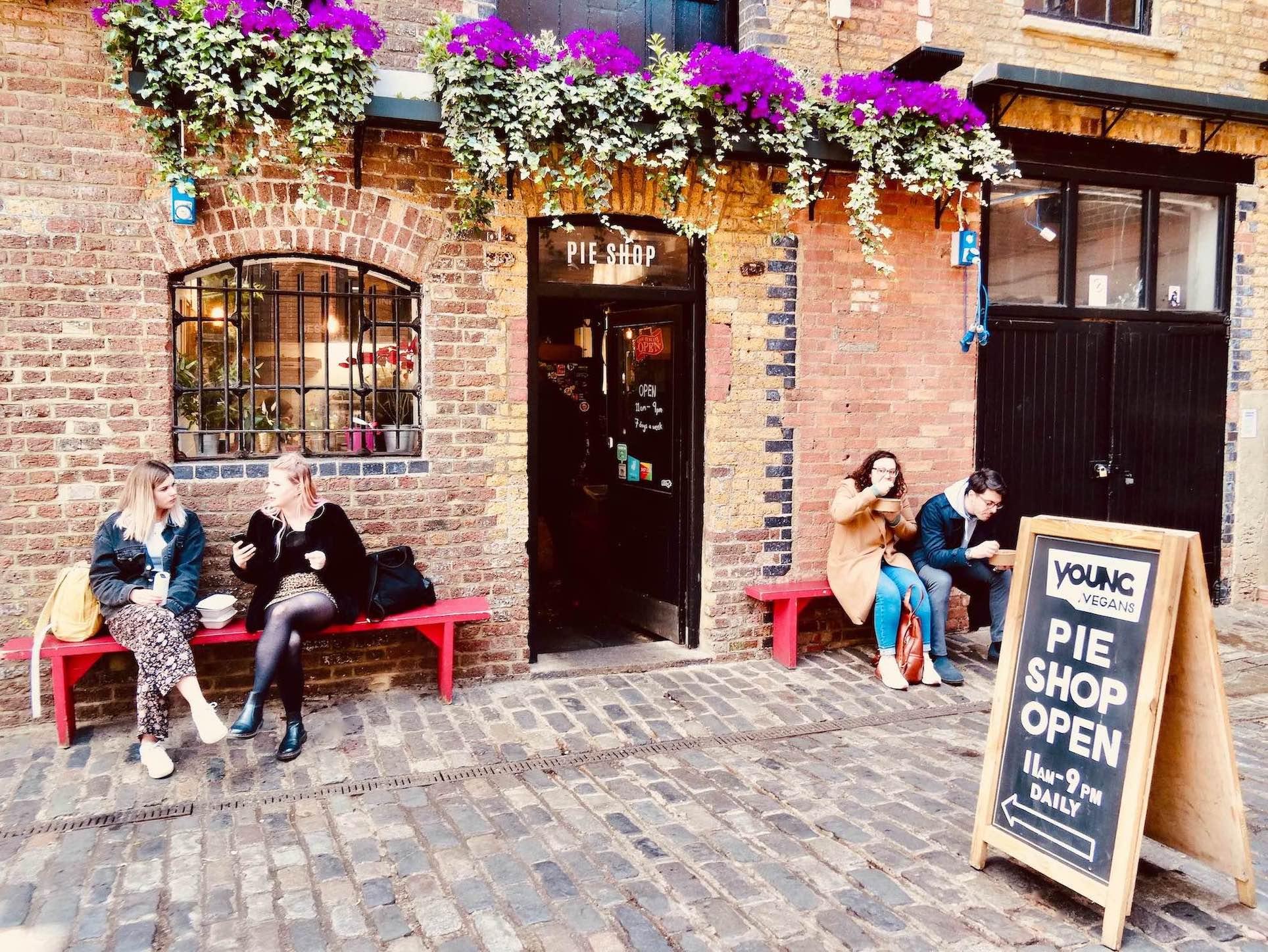 Young Vegans Pie Shop Camden Town.