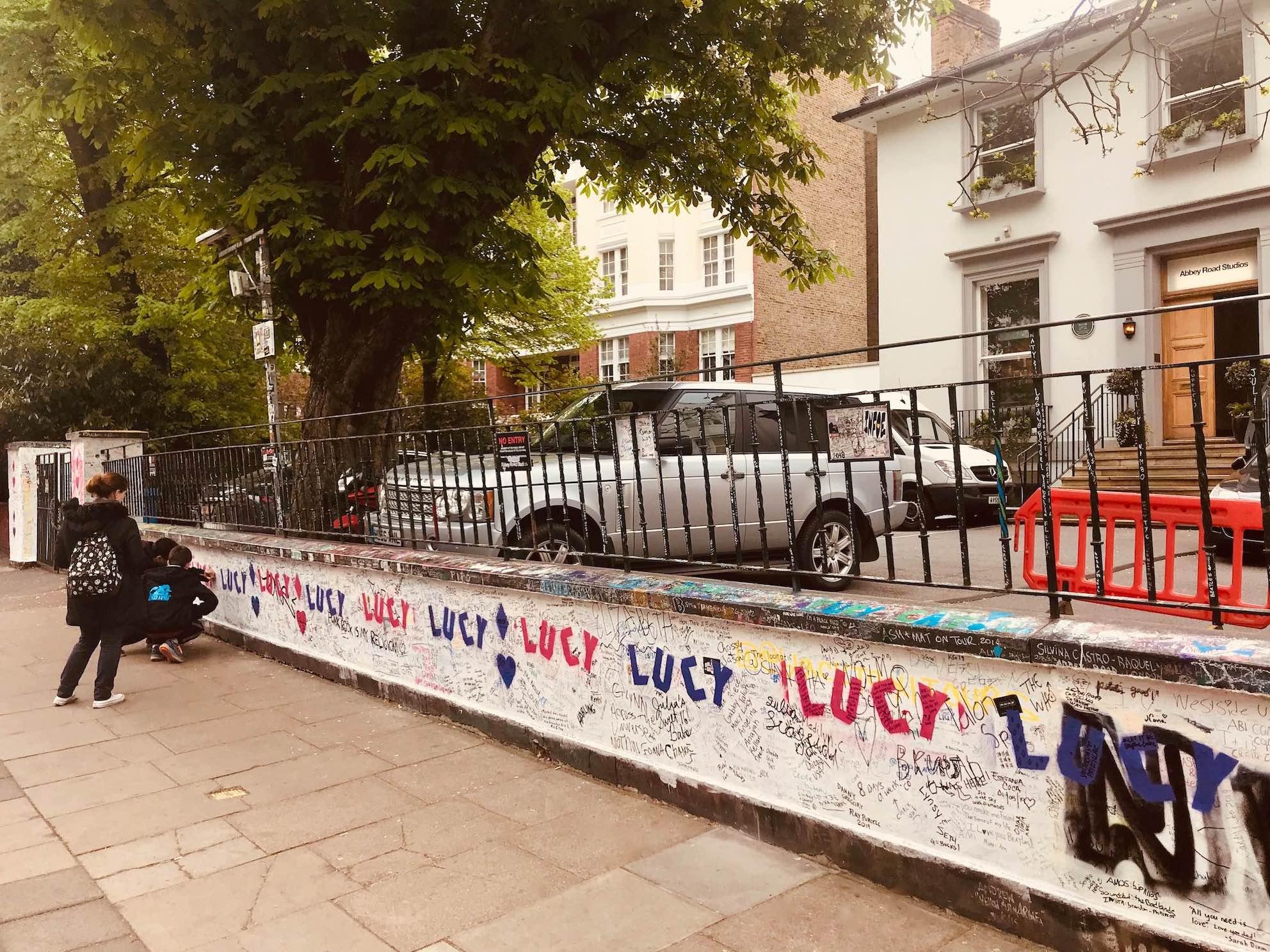 Abbey Road Studios graffiti.
