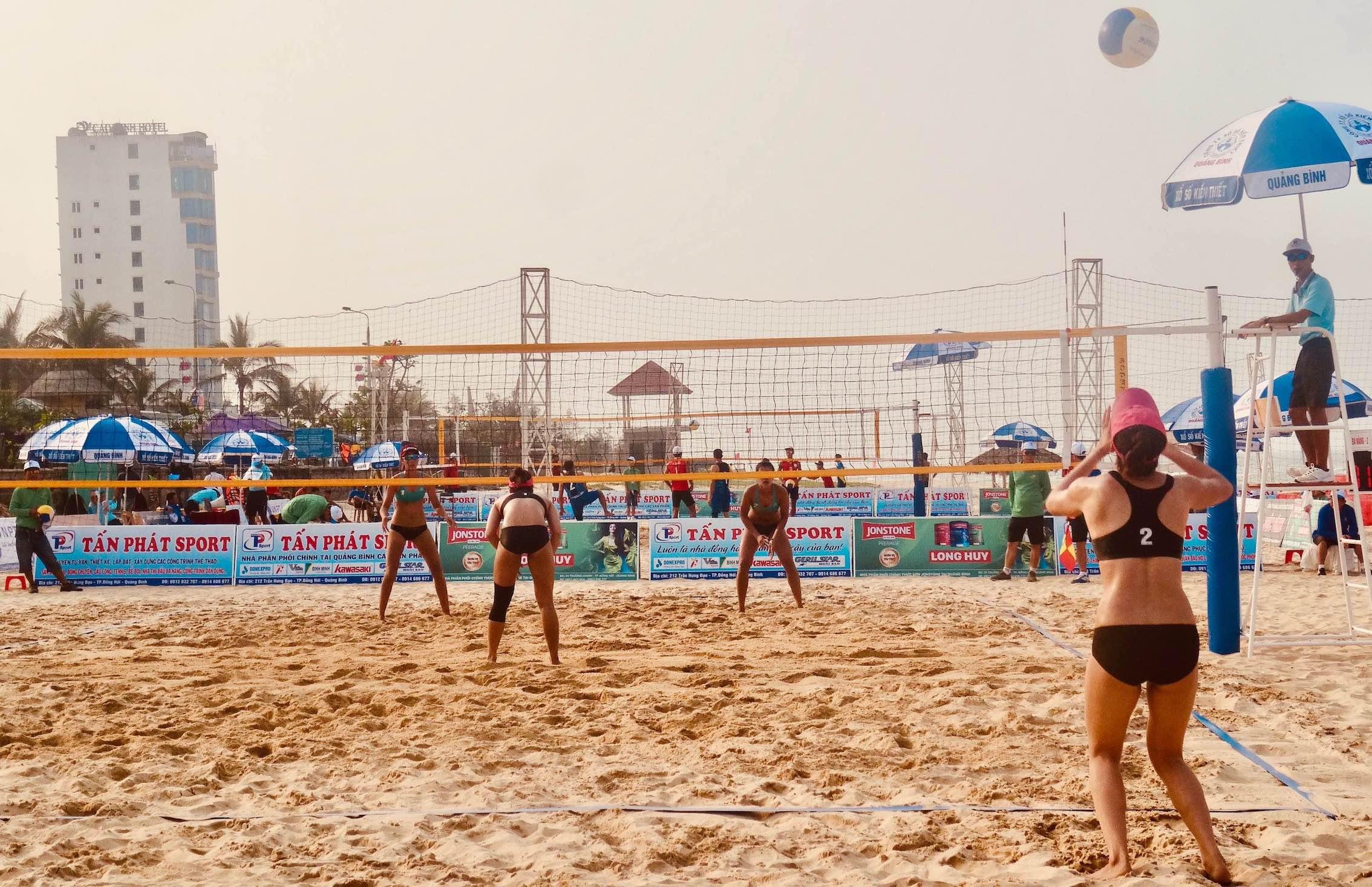 Beach volleyball Vietnam.