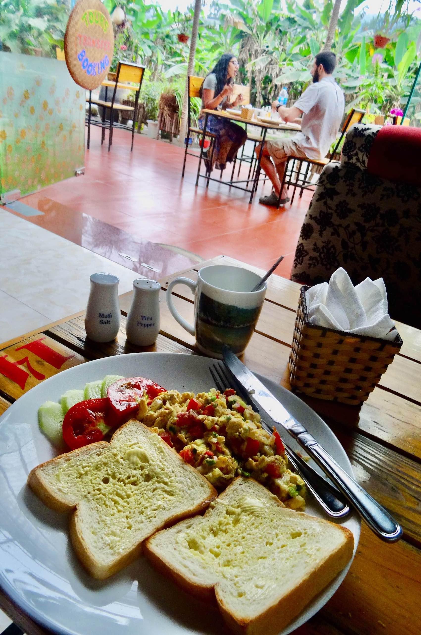 Breakfast at Sweet Potato Homestay