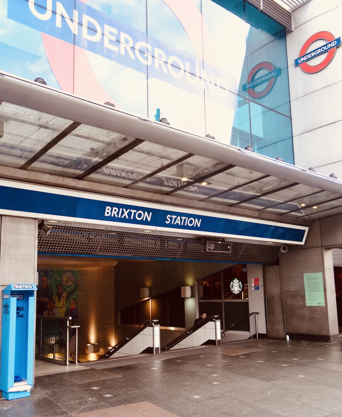 Brixton Tube Station in London.