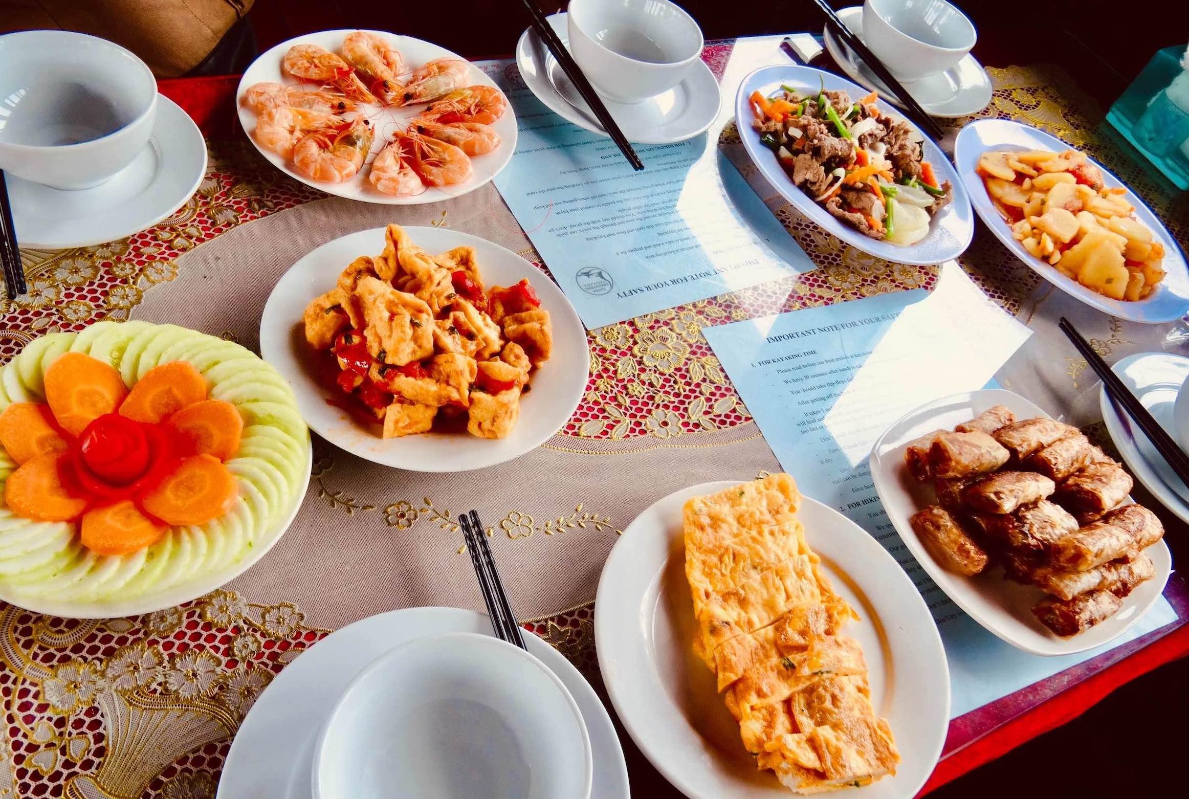 Buffet lunch Halong Bay Cruise Vietnam