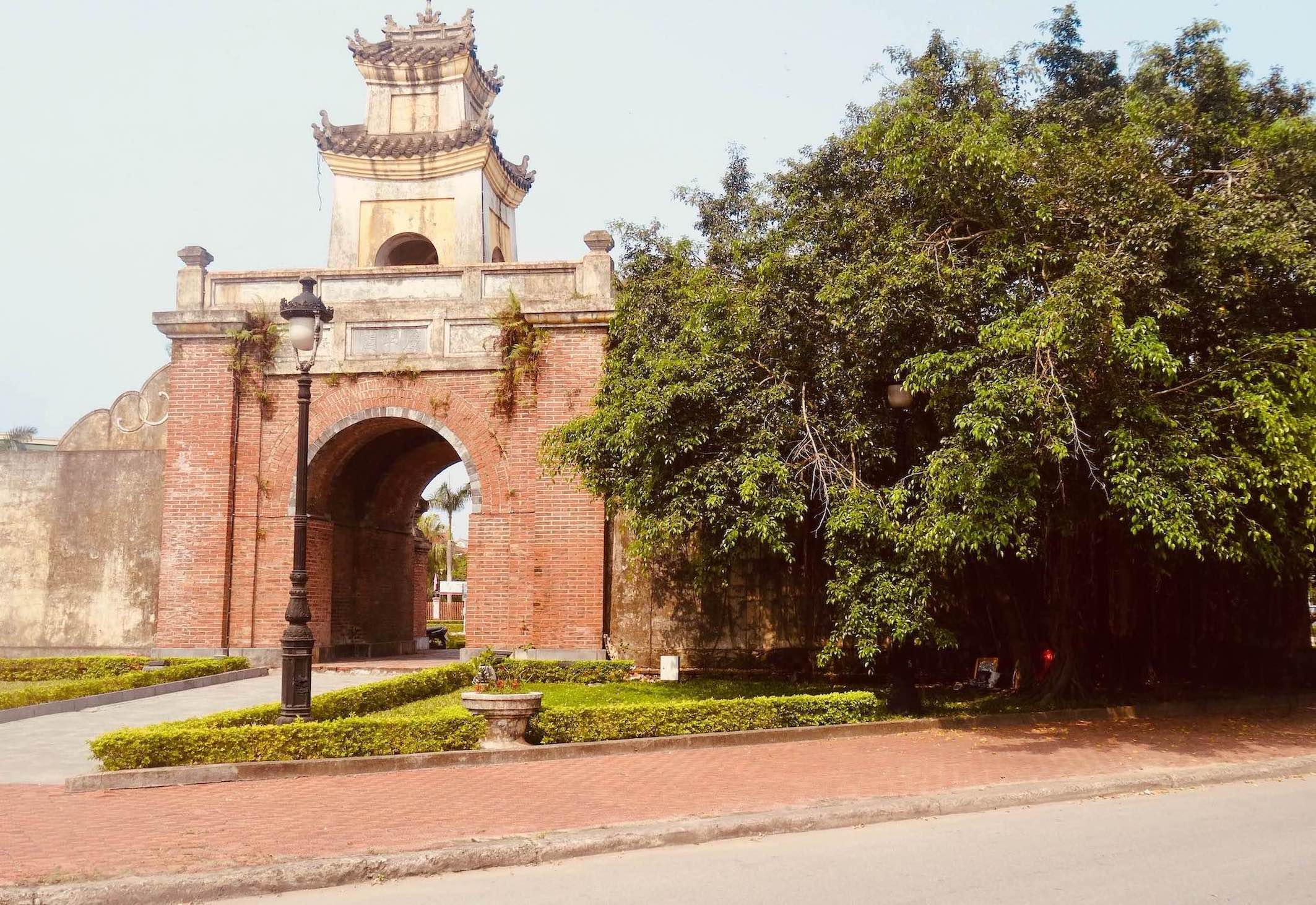 Citadel gate Dong Hoi Vietnam.