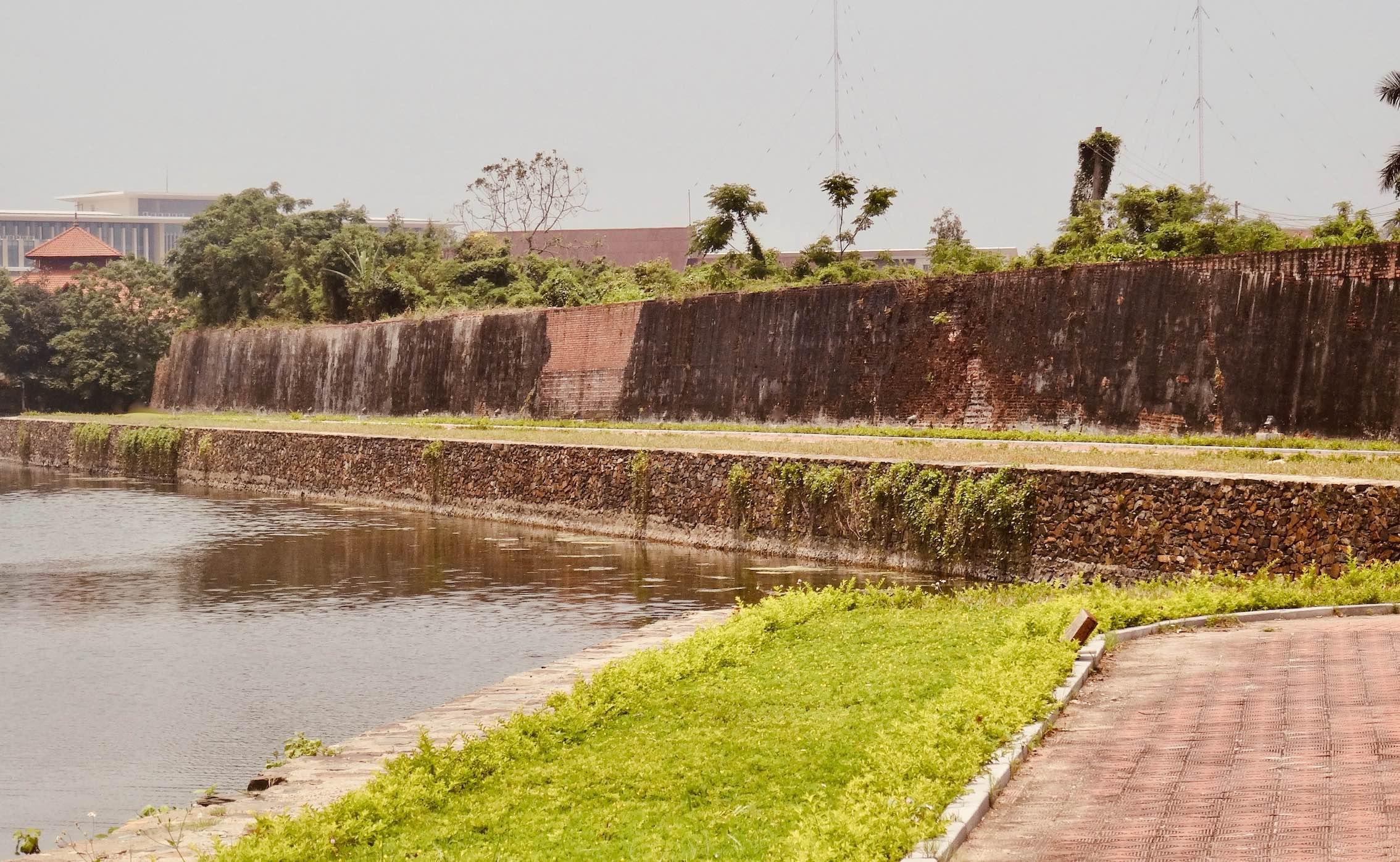 City walls Dong Hoi Vietnam.