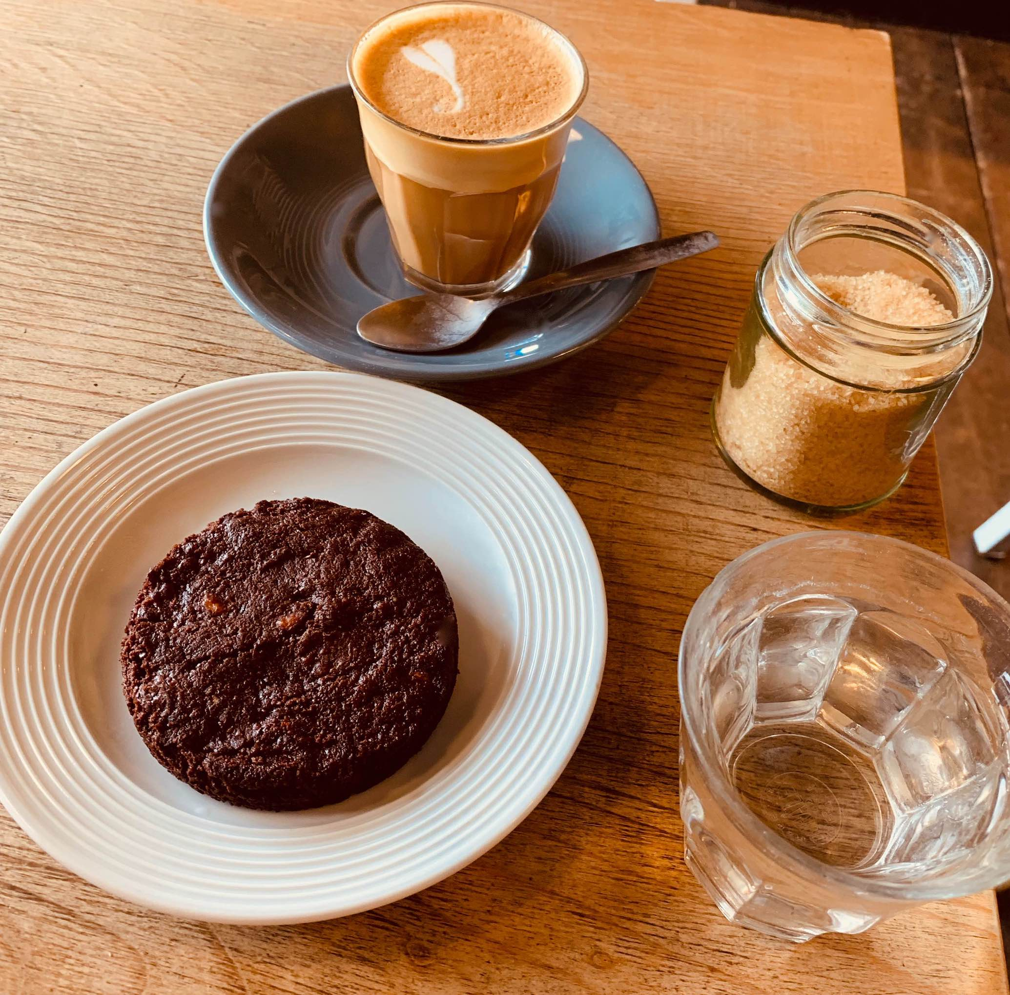 Coffee and cookie Foxcroft and Ginger Bakery in London