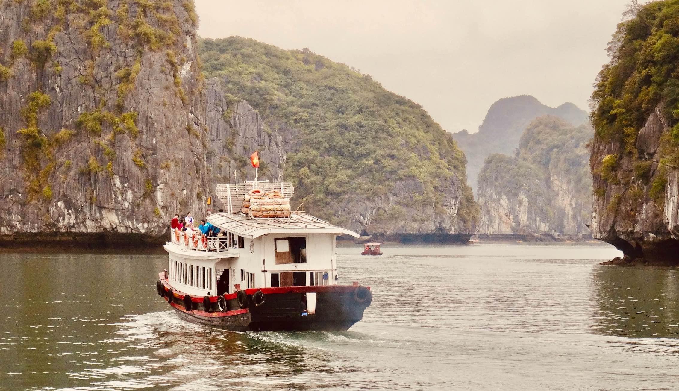 Cruising through Vietnam's beautiful Halong Bay