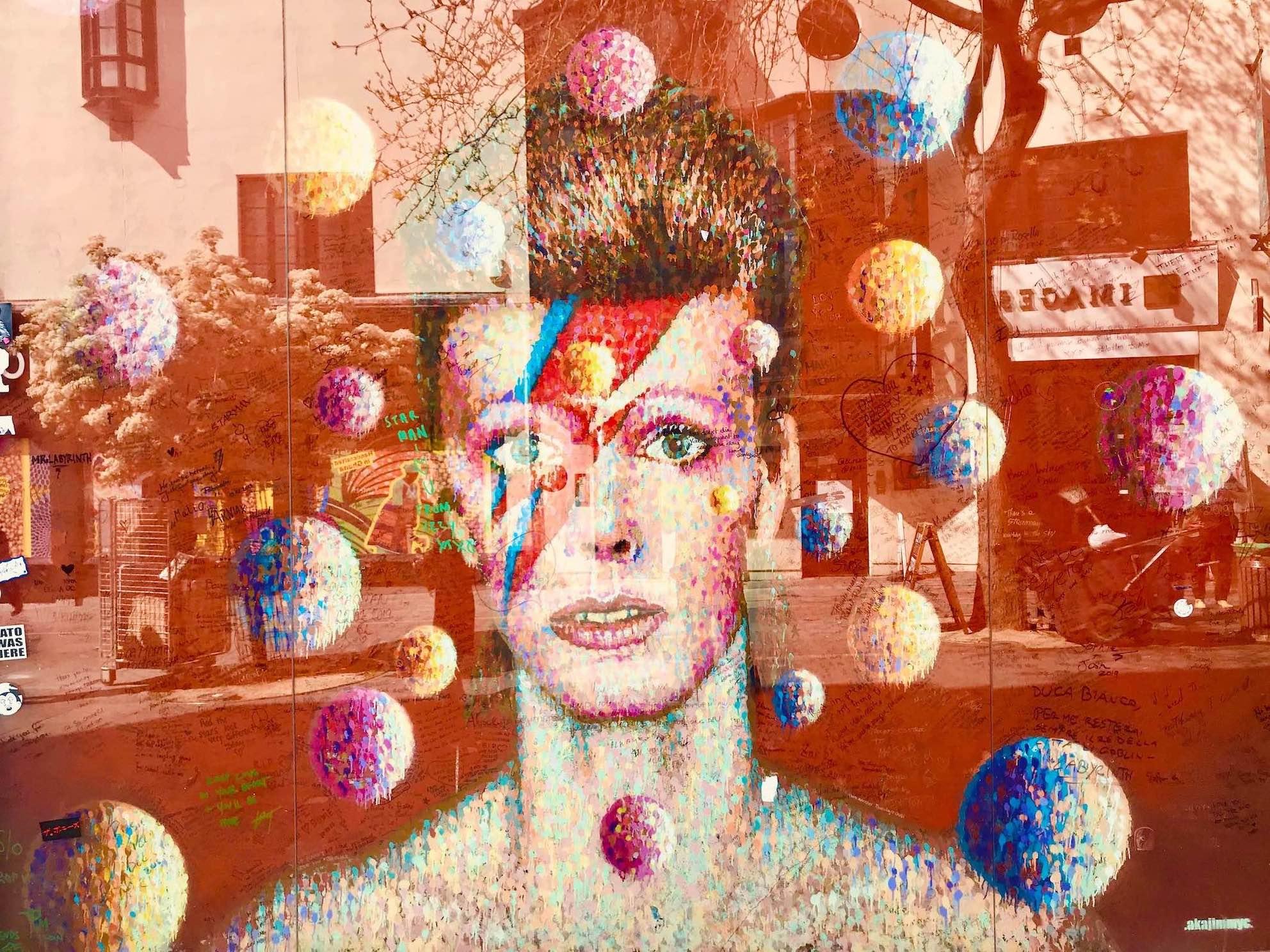 David Bowie Mural London.