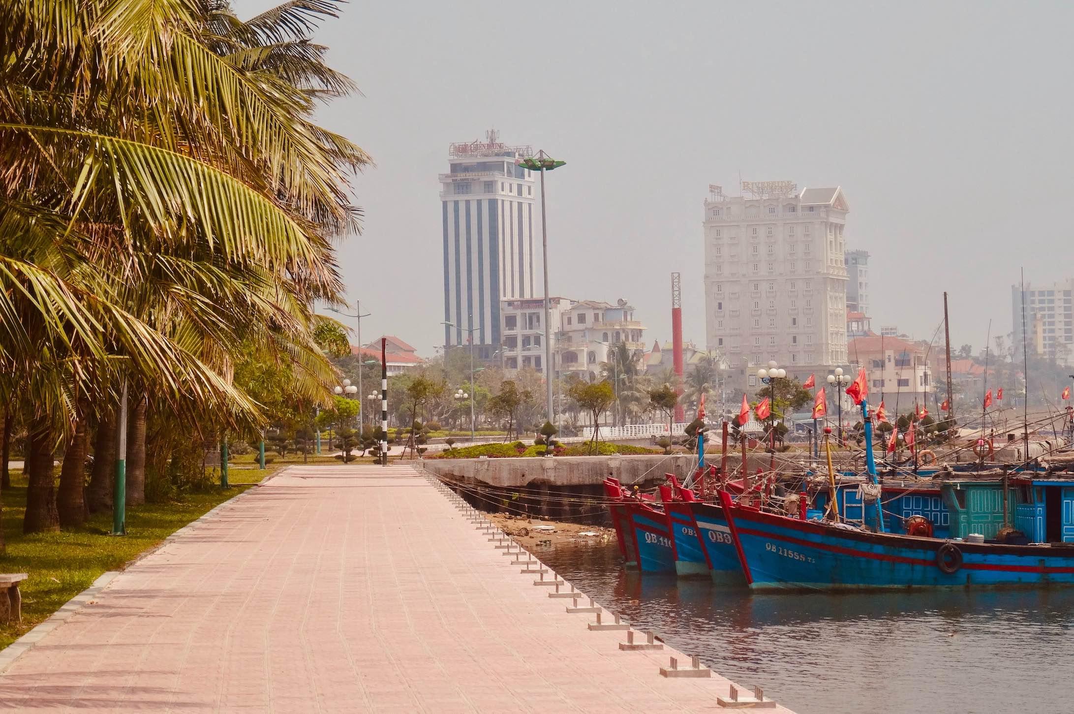 Dong Hoi Harbour in Vietnam.