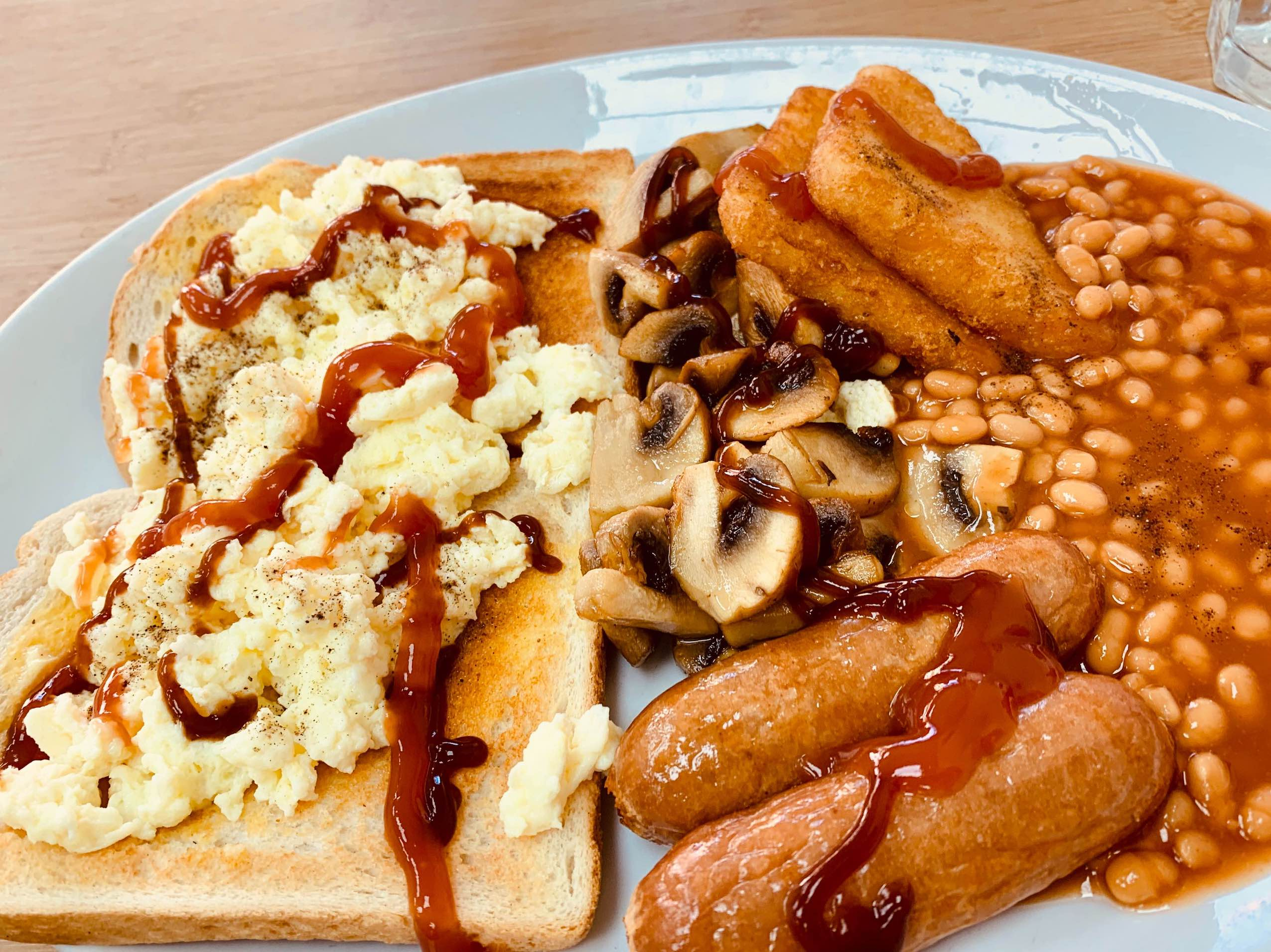 English breakfast Costas Cafe Tooting Bec