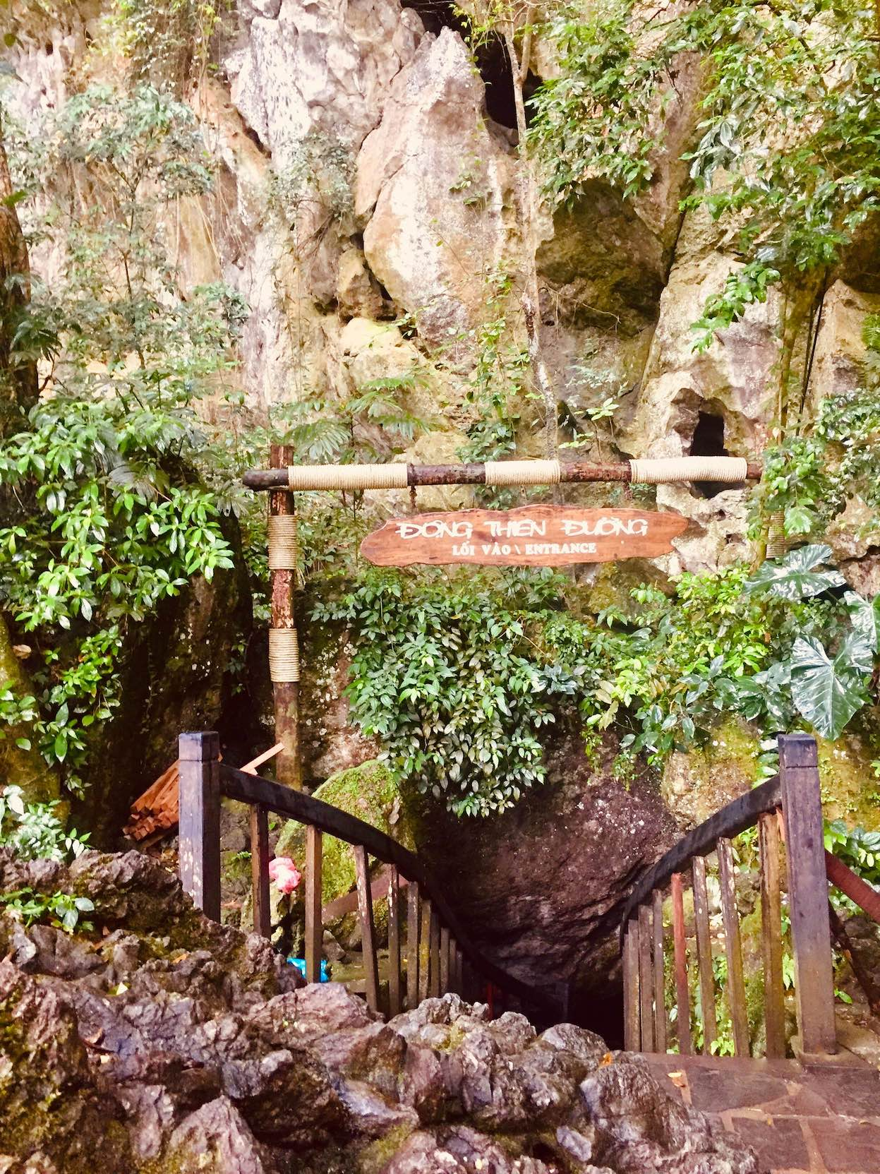 Entrance to Paradise Cave in Vietnam