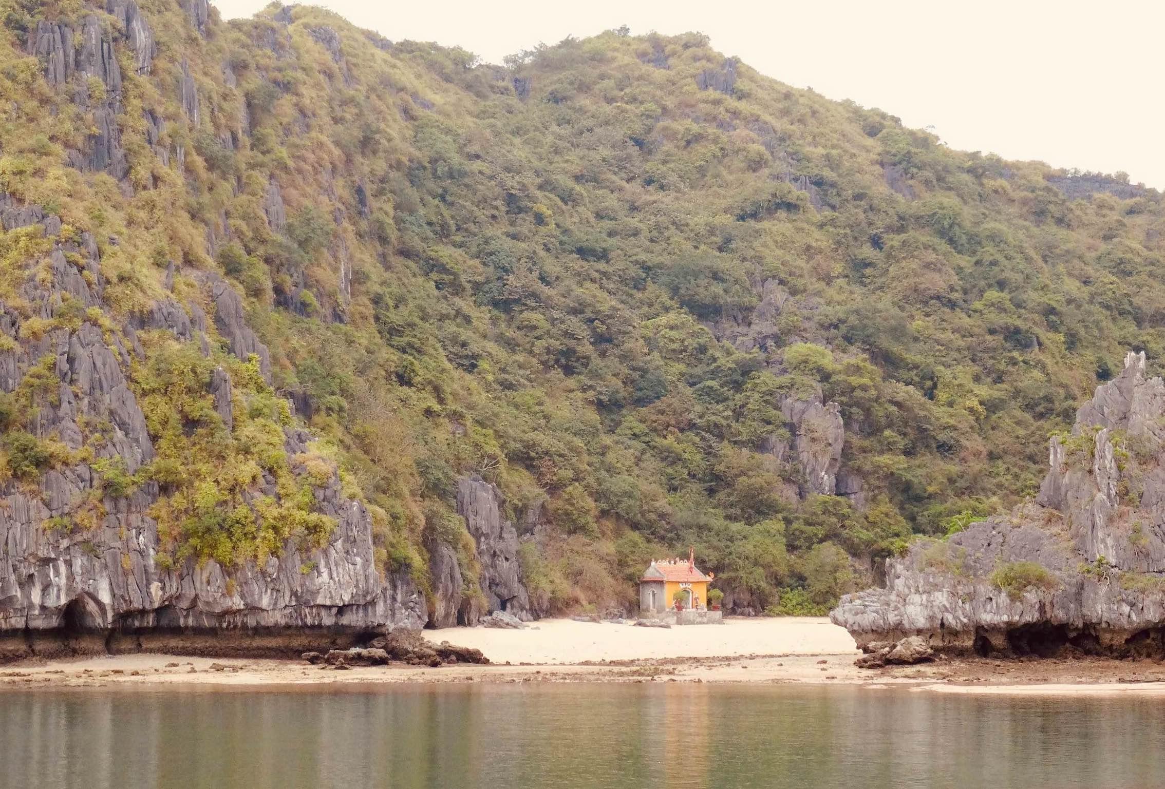 Fishermen shrine Lan Ha Bay.