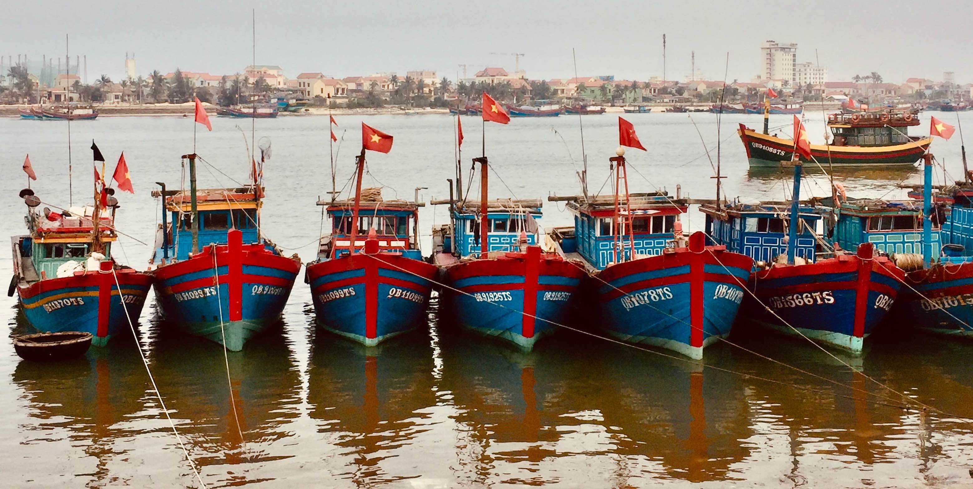 Fishing boats Dong Hoi Vietnam.