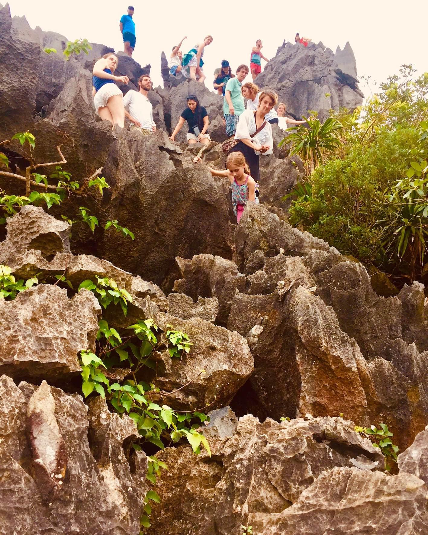 Hiking on Monkey Island in Halong Bay Vietnam