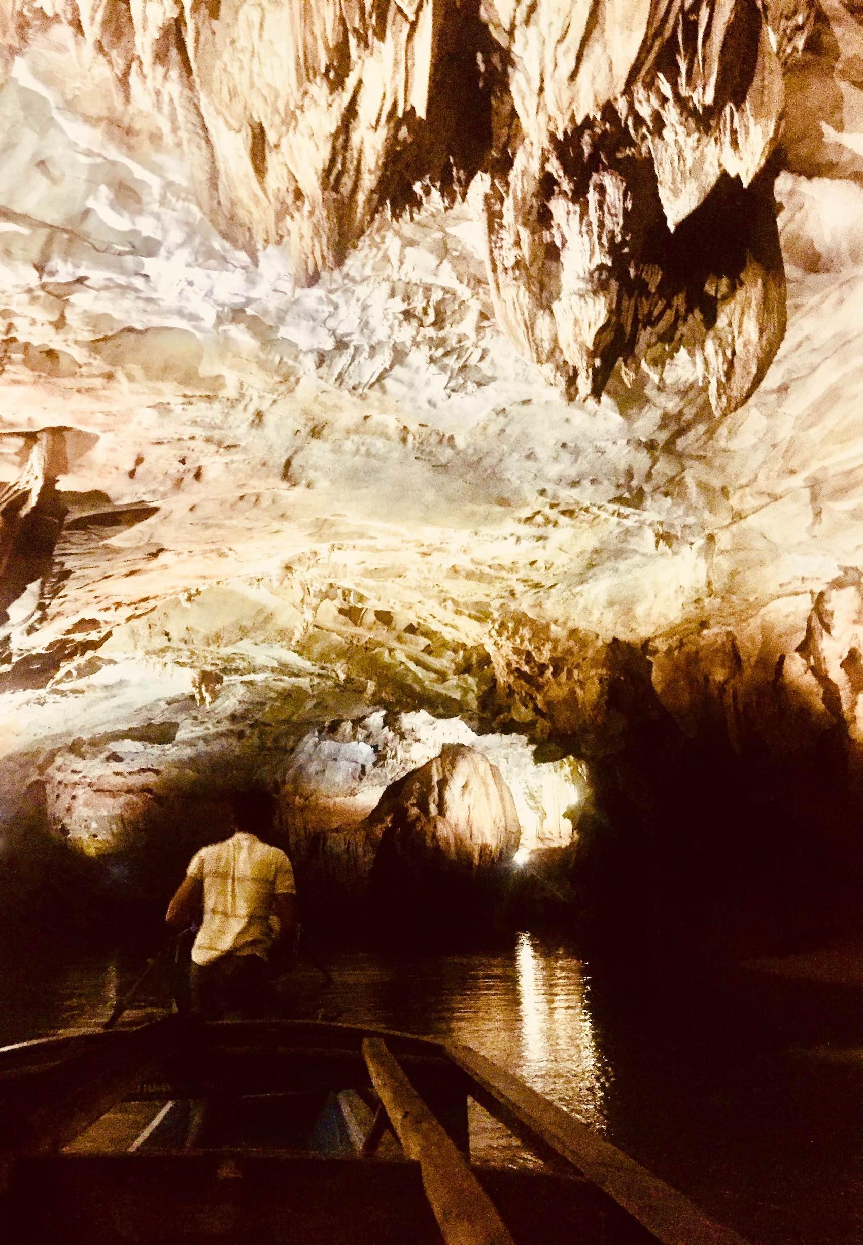 Inside Phong Nha Cave Vietnam.