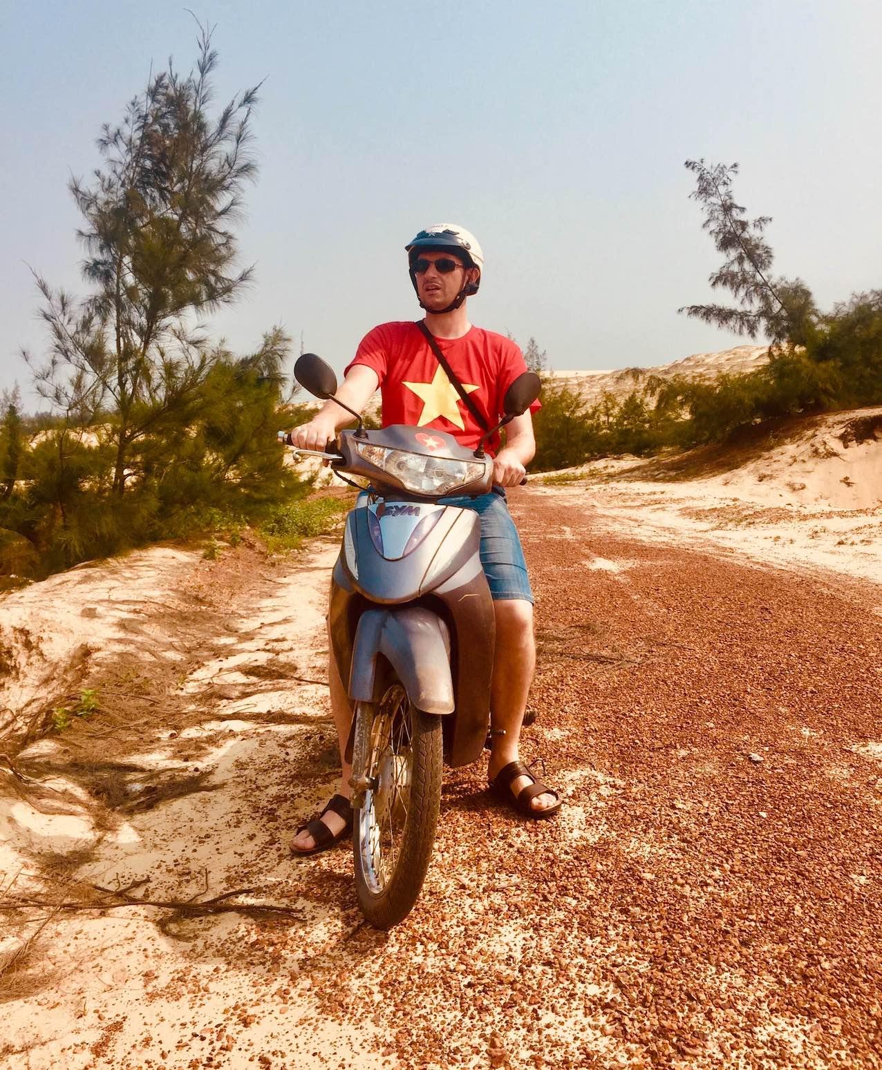 Motorcycling Dong Hoi Vietnam.