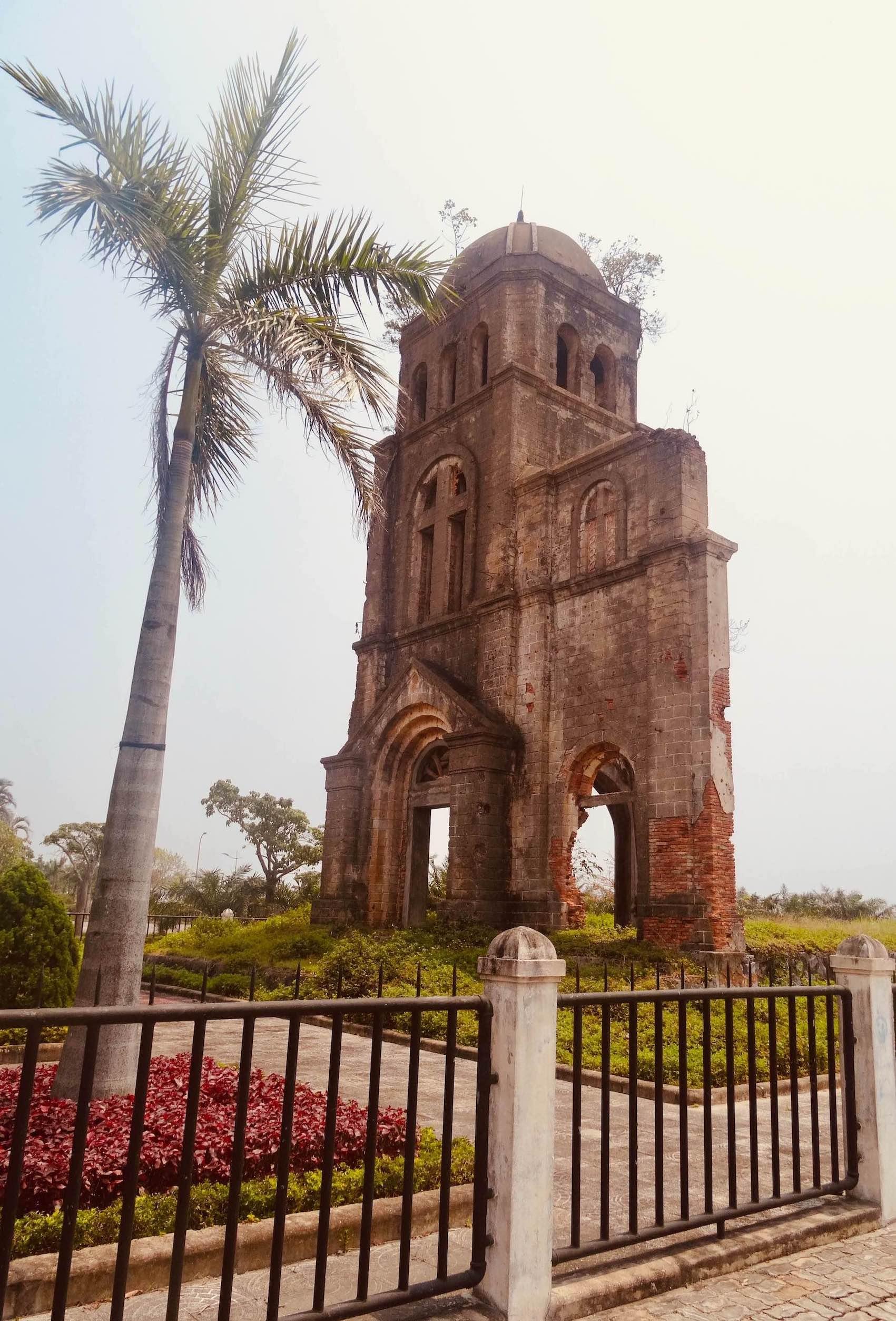 Ruined Catholic Church Dong Hoi Vietnam