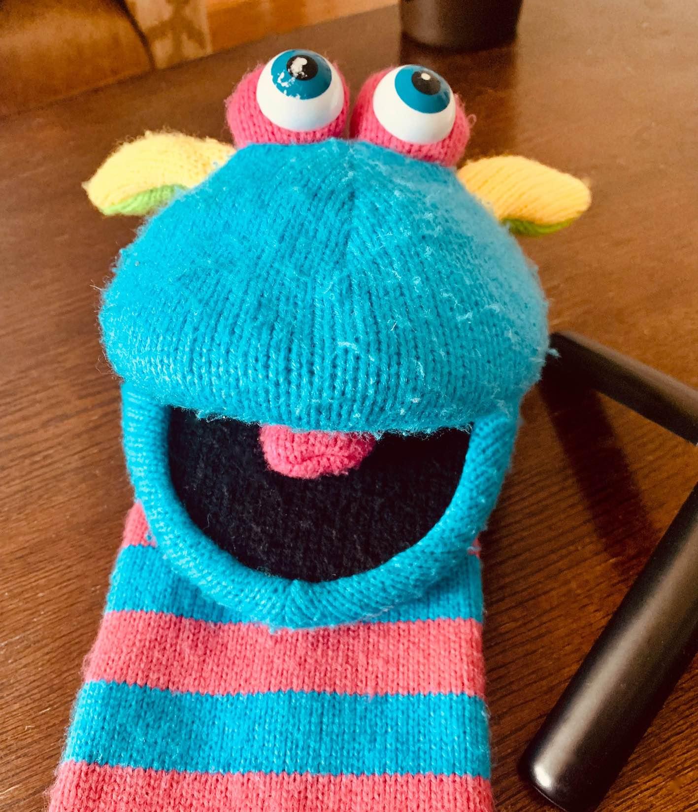 Sock puppet.