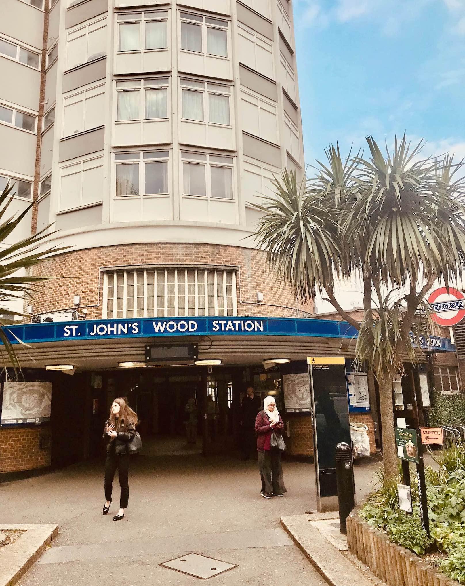 St. John's Wood Tube Station in London