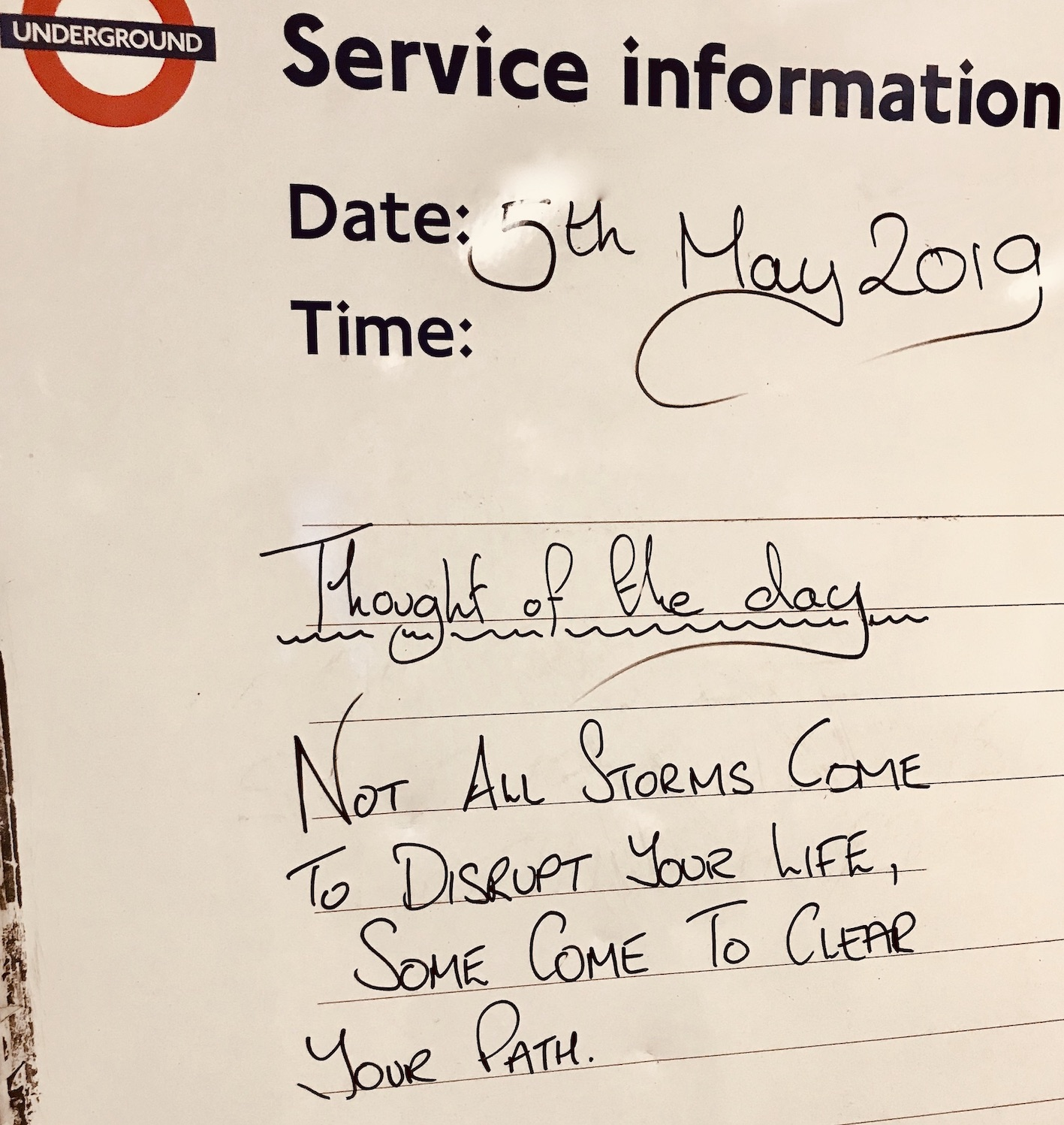 Thought of the Day Tooting Bec Station