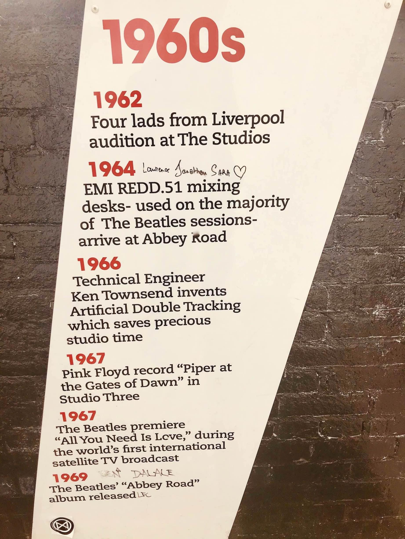 Timeline Abbey Road Studios.