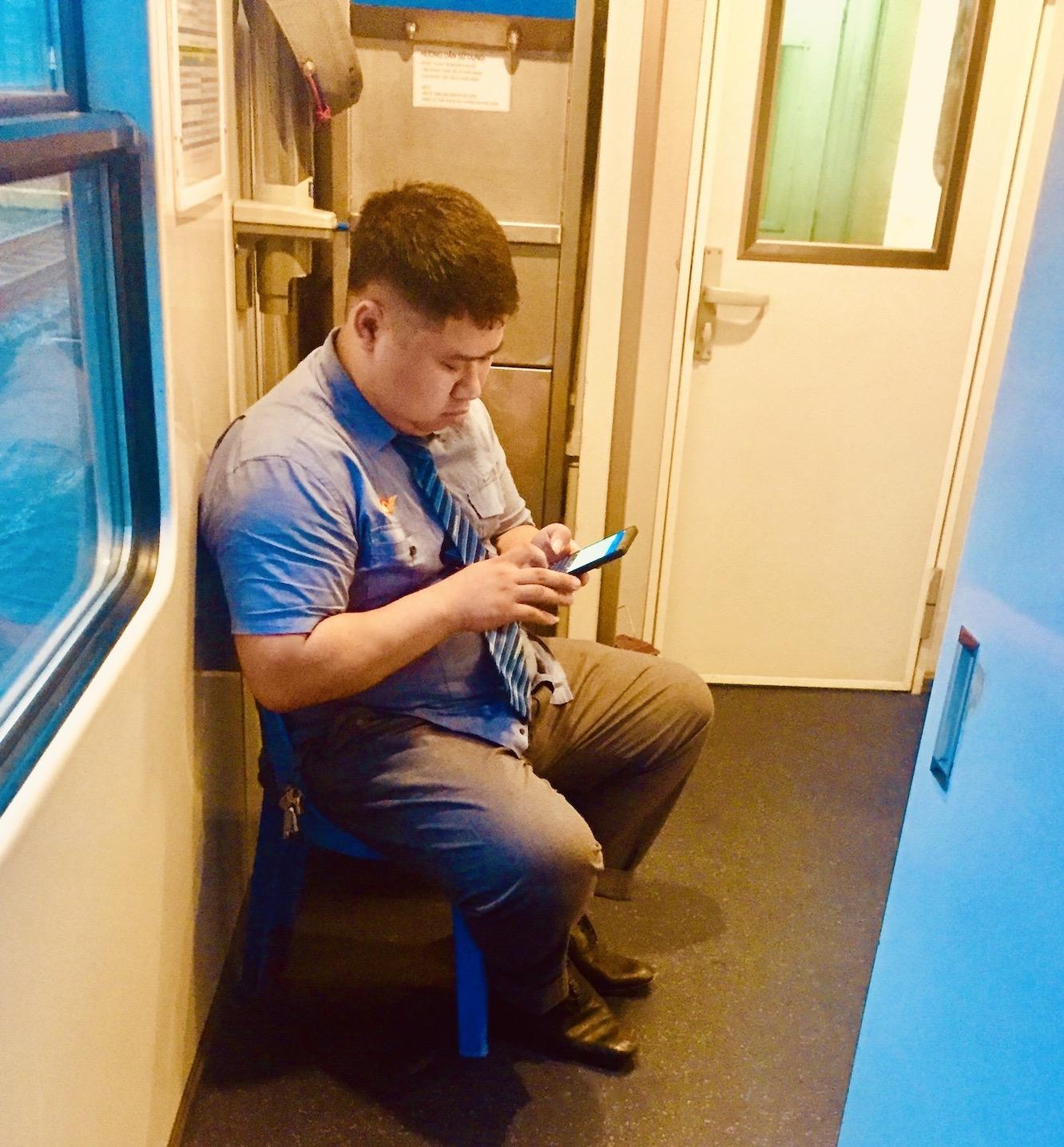 Train travel in Vietnam.