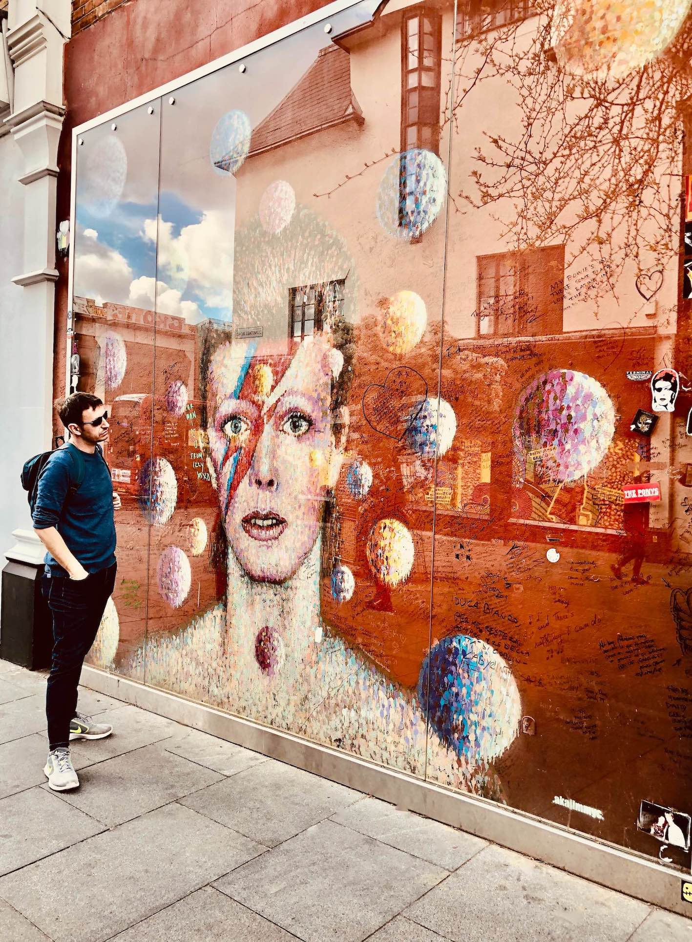 Visiting the David Bowie Mural in London