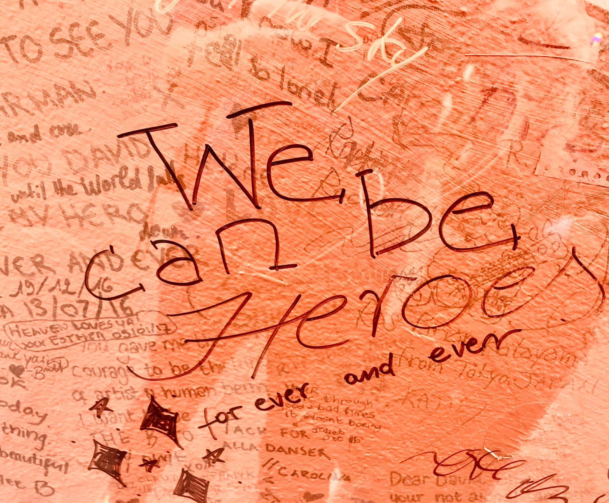 We Can Be Heroes the David Bowie Mural