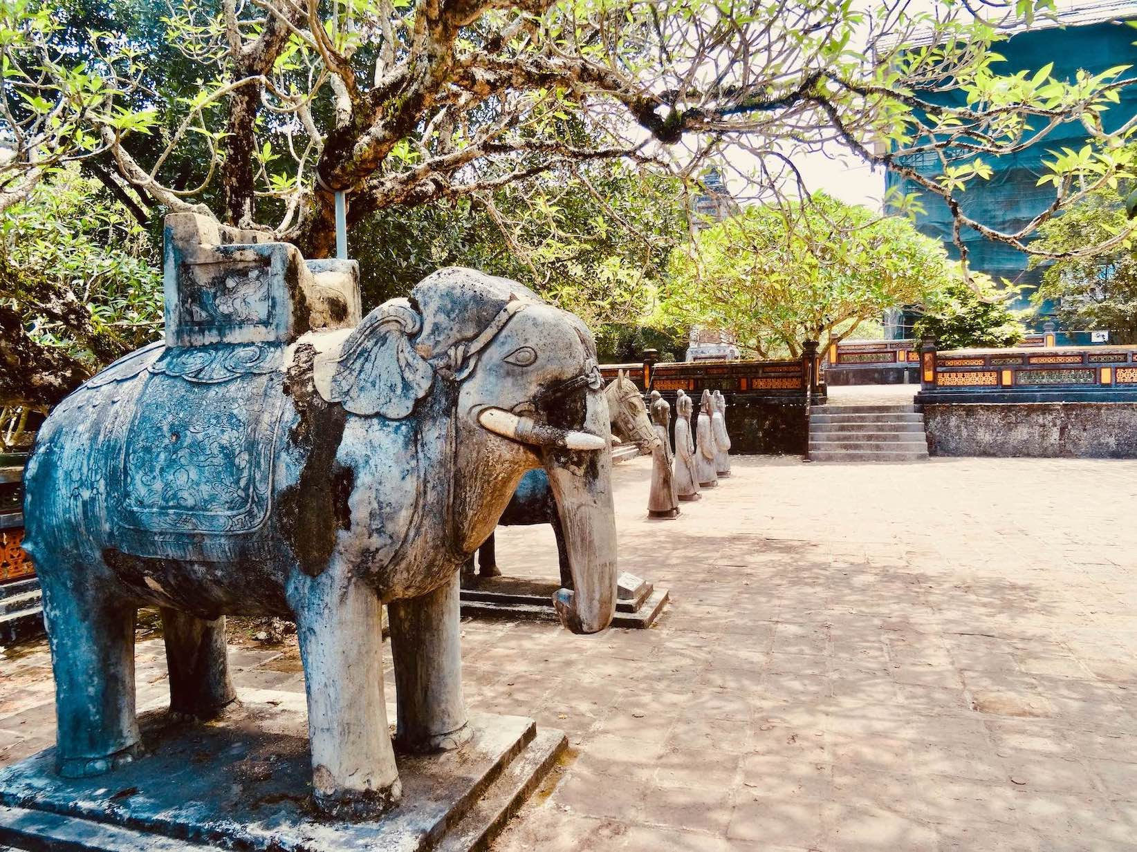 Elephant statues Mausoleum of Emperor Tu Duc