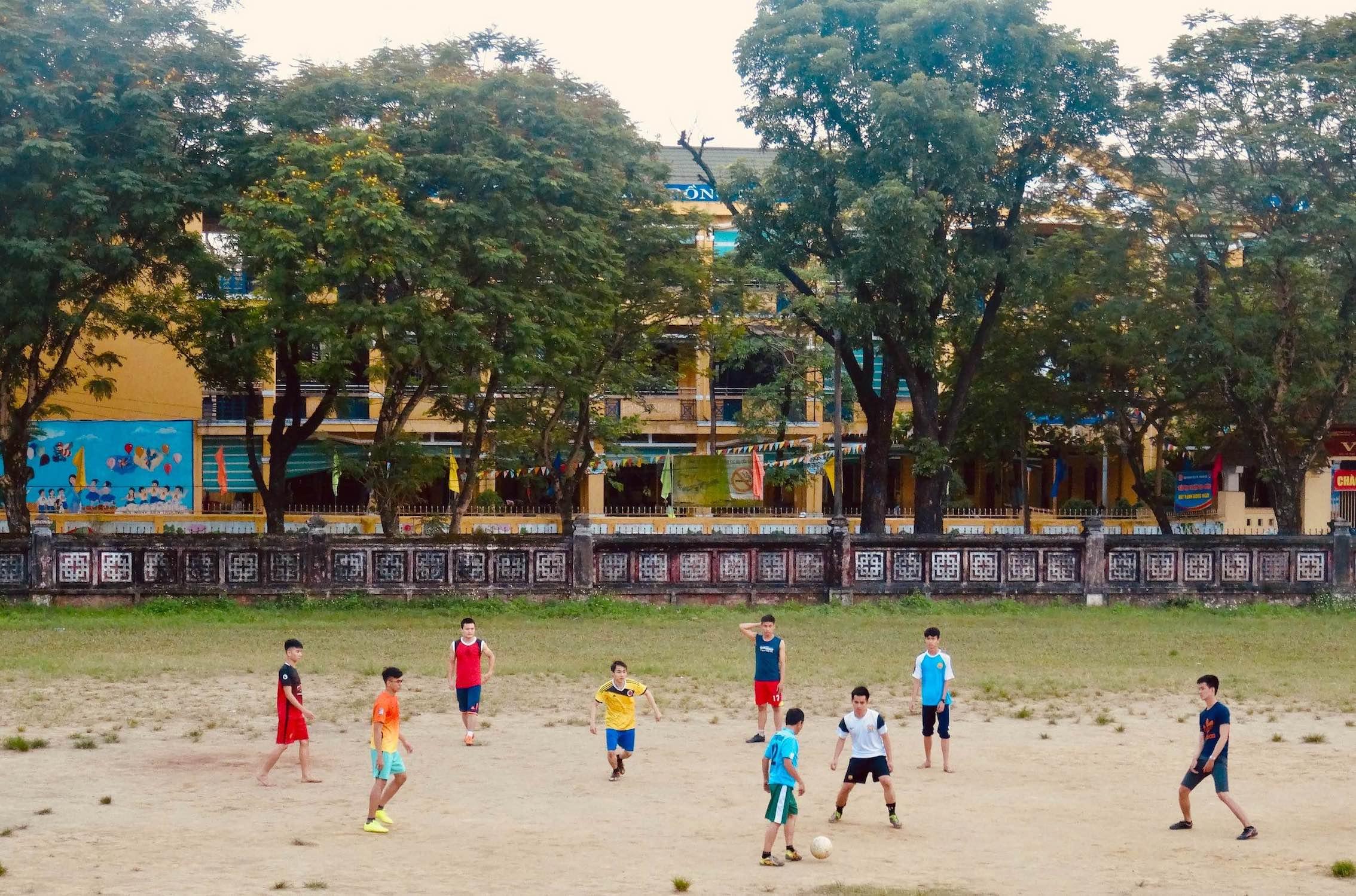 Football match Hue Vietnam.