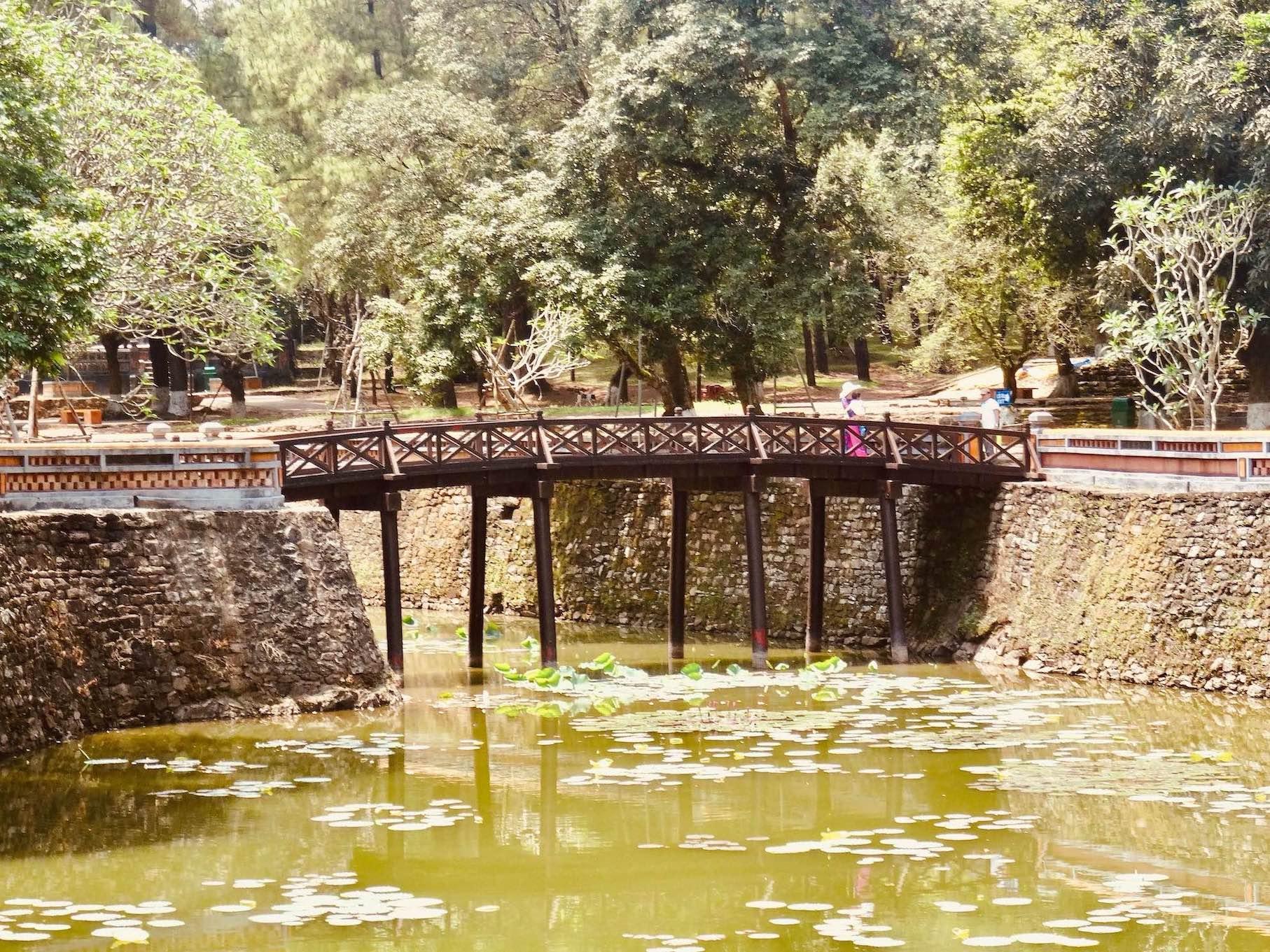 Island bridge Tomb of Emperor Tu Duc