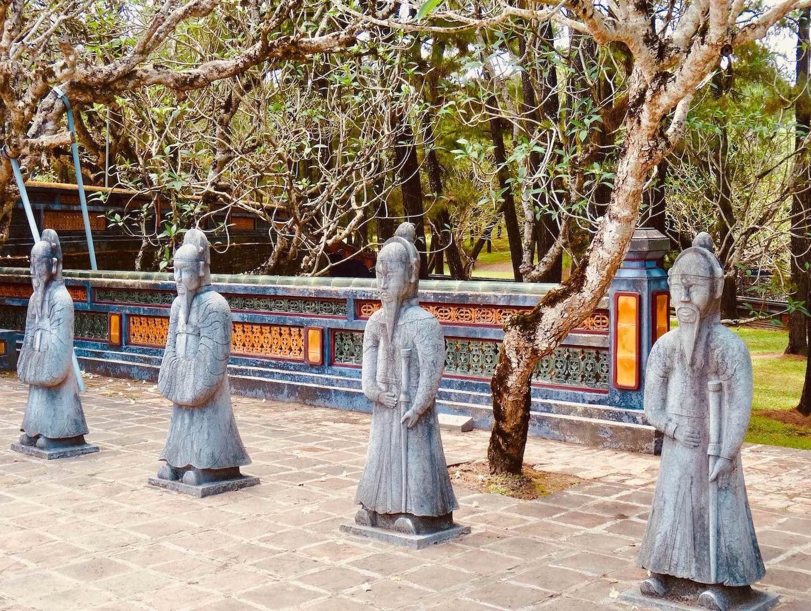 Mandarin statues Mausoleum of Emperor Tu Duc