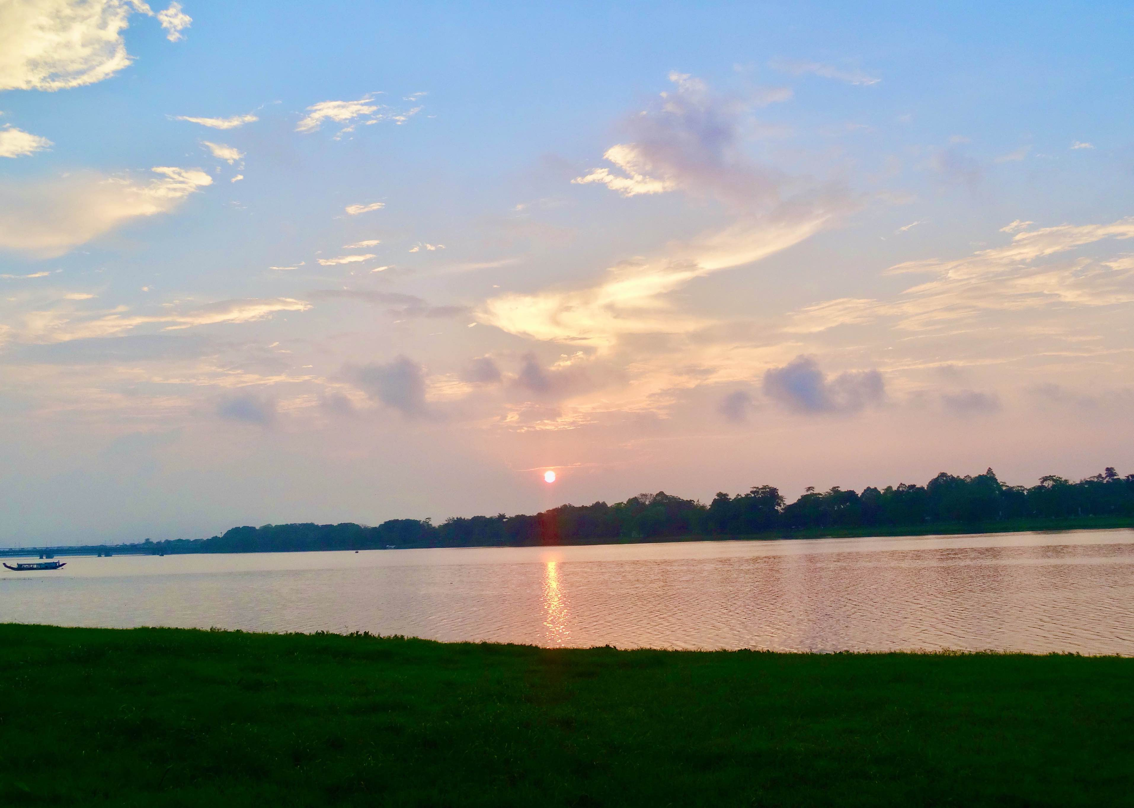Sunset over The Perfume River.