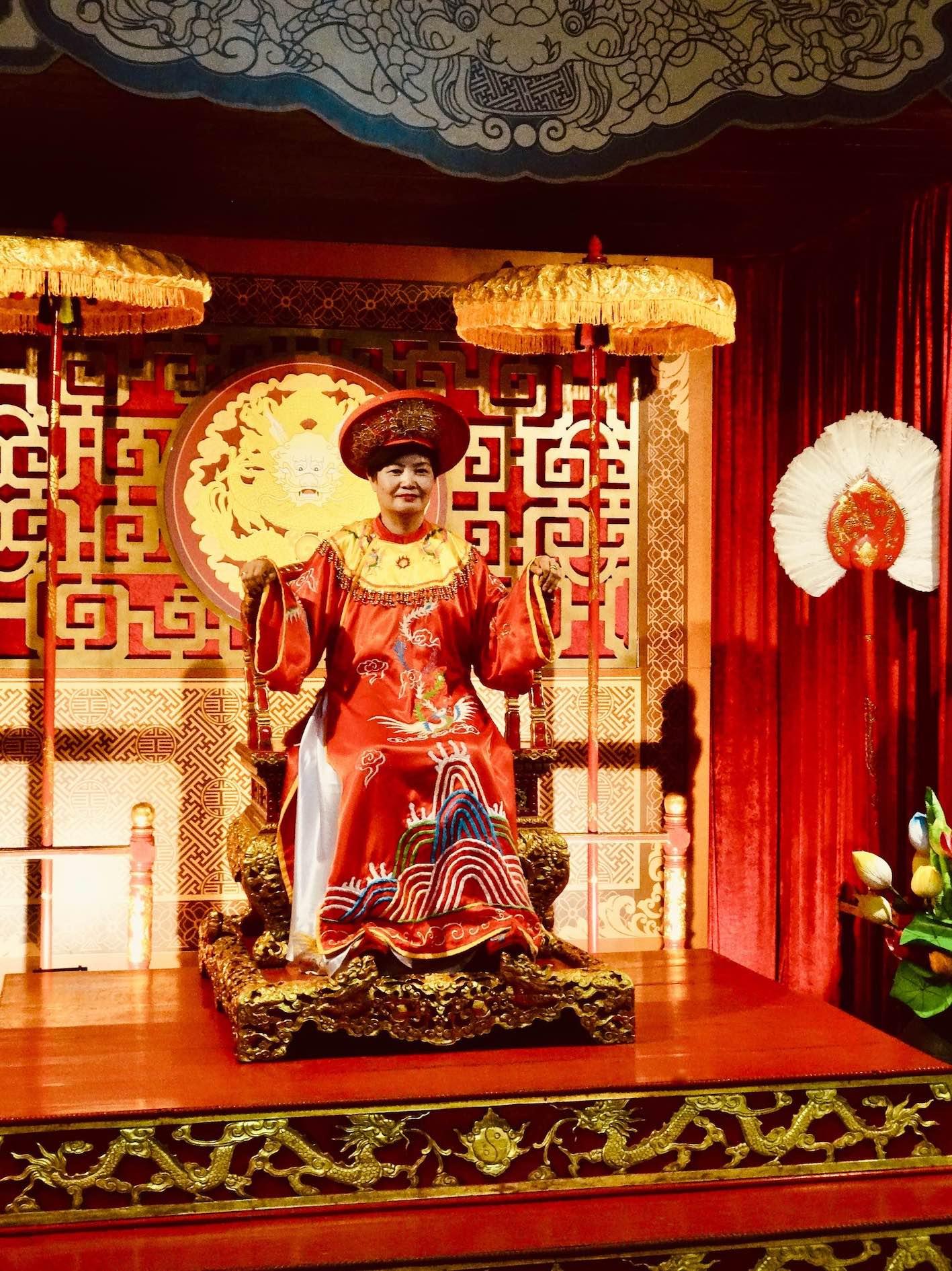 Traditional Nguyen Dynasty costume Hue Vietnam